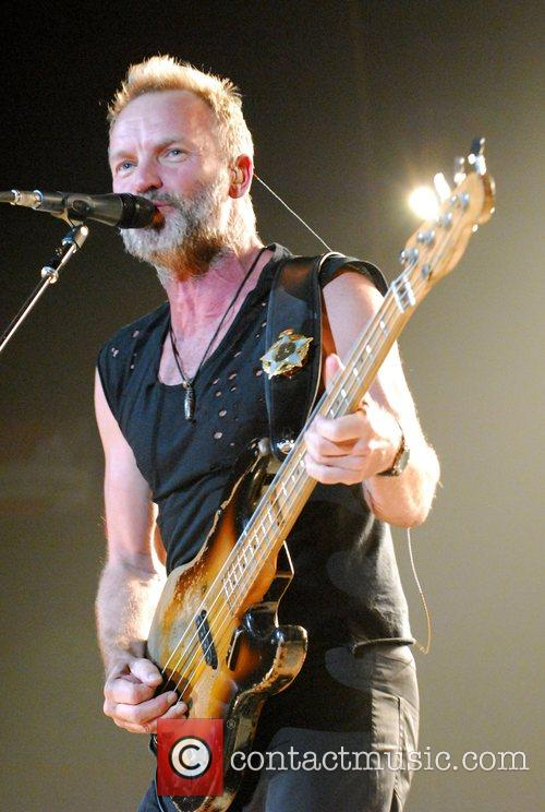 Sting The Police performing at the MGM Grand...