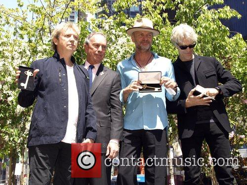 Michael Bloomberg, Sting, Andy Summers and Stewart Copeland...