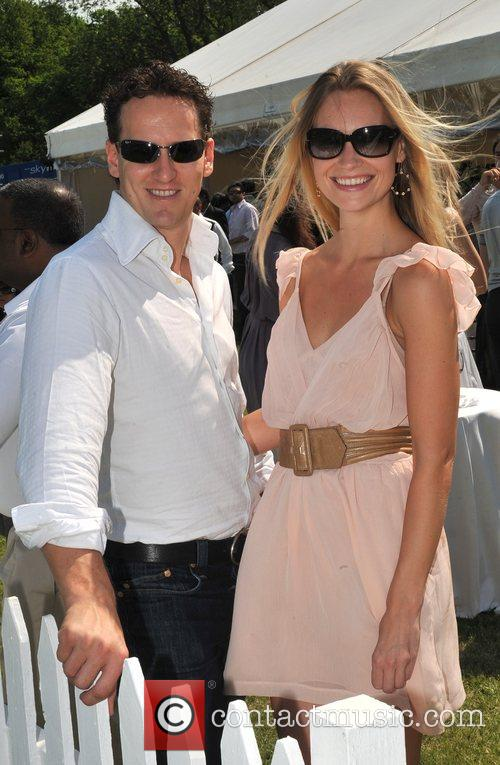 Brendan Cole and guest Hurtwood Park Polo Masters...