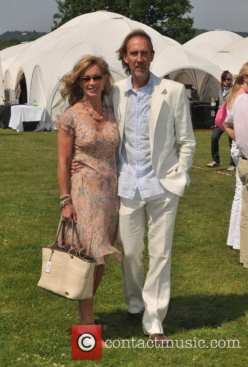 Mike Rutherford and guest Hurtwood Park Polo Masters...
