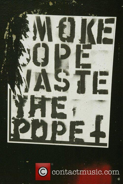 Anti-Pope posters at the Dupont Circle