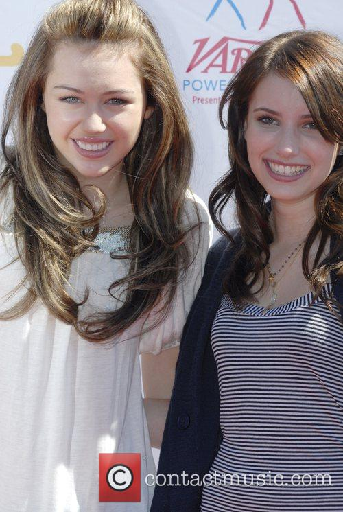 Miley Cyrus and Emma Roberts Power of Youth...