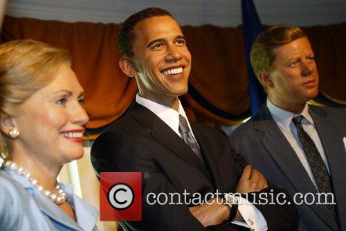 Senator Barack Obama waxwork unveiling at Madame Tussauds