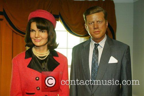 Jaqueline Bouvier Kennedy, President John Fitzgerald Kennedy wax...