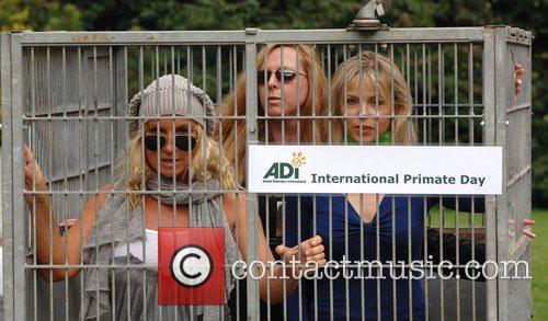 Meg Matthews, Maria Daines and Julia Stephenson Celebrities...