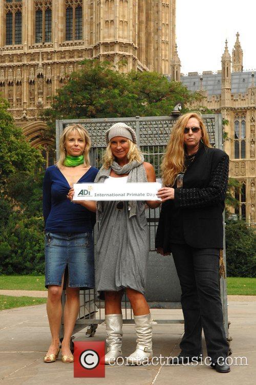 Julia Stephenson, Meg Matthews and Maria Daines Celebrities...