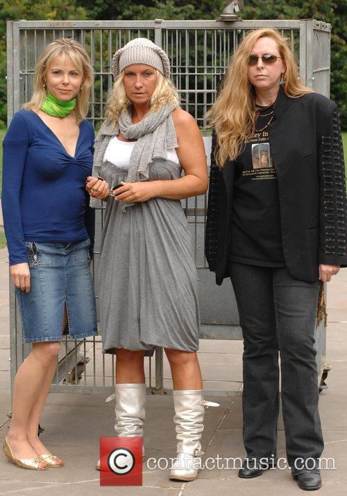 Maria Daines, Meg Matthews and Julia Stephenson Celebrities...