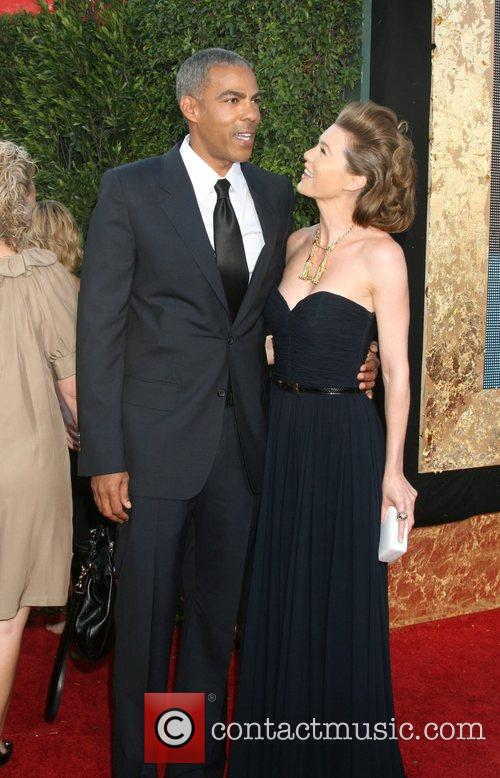 Ellen Pompeo and Guest The 59th Primetime Emmy...