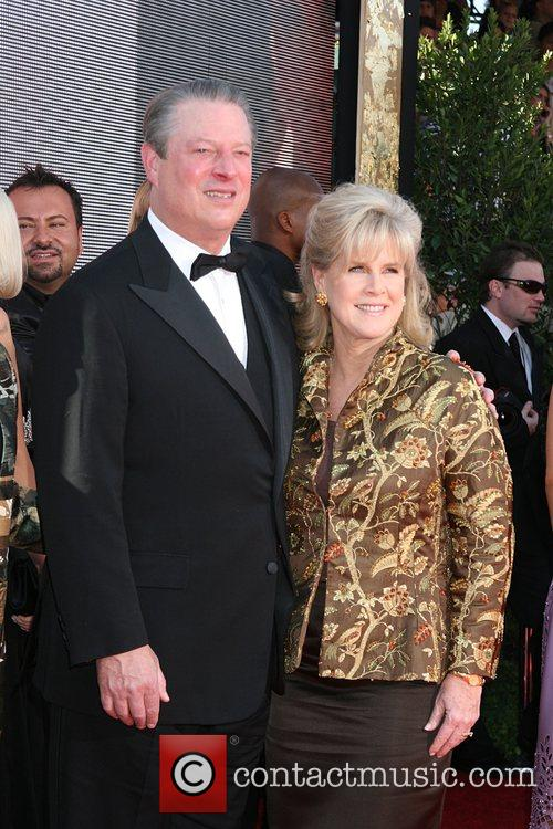 Al Gore and wife The 59th Primetime Emmy...