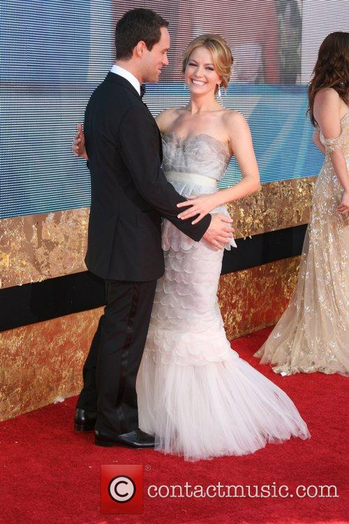 Becki Newton and Guest The 59th Primetime Emmy...