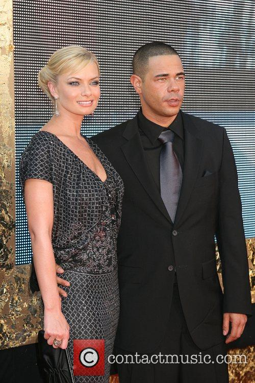 Jaime Pressly and Guest The 59th Primetime Emmy...