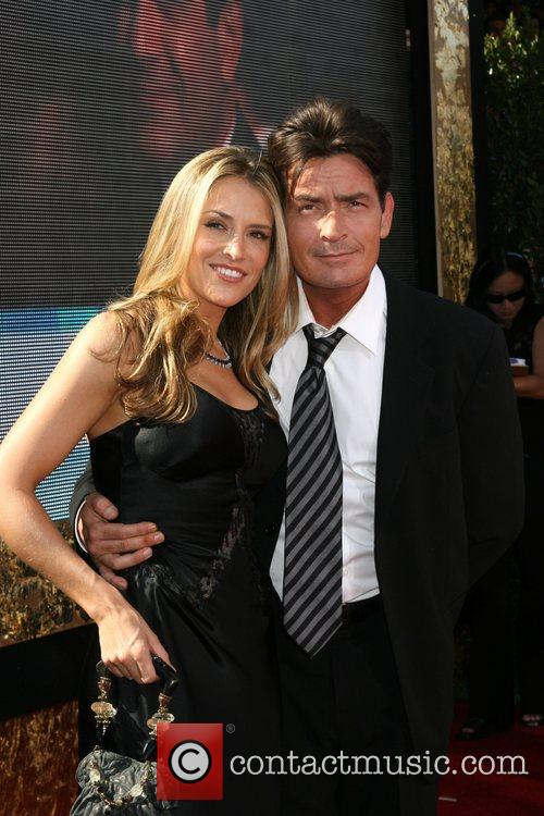Charlie Sheen and Brooke Mueller The 59th Primetime...