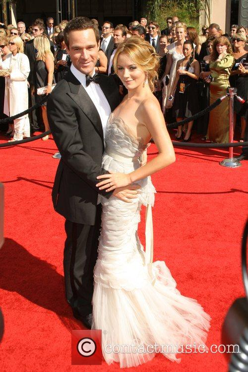 Becky Newton and Guest The 59th Primetime Emmy...