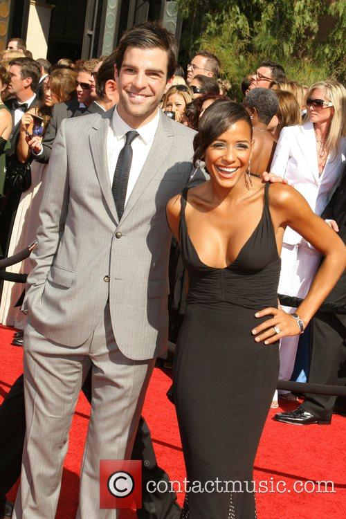 Zachary Quinto and Guest The 59th Primetime Emmy...