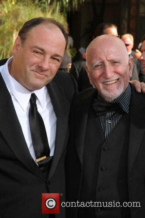 James Gandolfini and Guest The 59th Primetime Emmy...