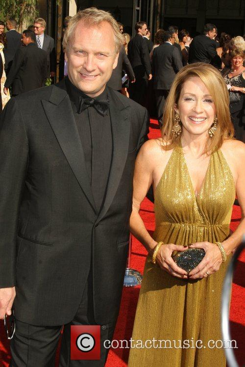 Patricia Heaton and Guest The 59th Primetime Emmy...