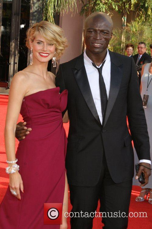 Heidi Klum and Seal The 59th Primetime Emmy...