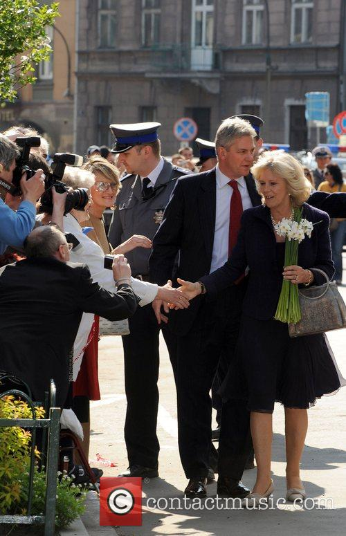 Camilla, Duchess of Cornwall meets wellwishers outside the...