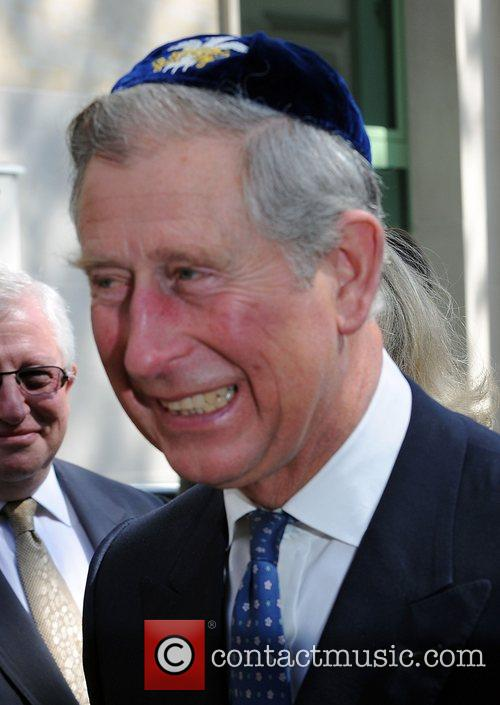 Prince Charles, Prince Of Wales, Wearing A Jewish Yarmulka and Smiles As He Opens The Krakow Jewish Community Centre 6