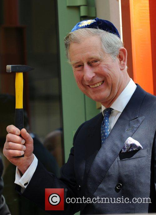 Prince Charles, Prince Of Wales, Wearing A Jewish Yarmulka and Smiles As He Opens The Krakow Jewish Community Centre 10