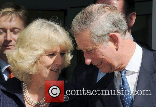 Prince Charles, Prince Of Wales, Wearing A Jewish Yarmulka, Camilla and Duchess Of Cornwall Smile At Each Other When They Open The Krakow Jewish Community Centre 3