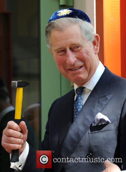 Prince Charles, Prince Of Wales, Wearing A Jewish Yarmulka and Smiles As He Opens The Krakow Jewish Community Centre 5