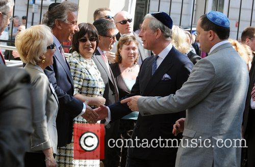 Prince Charles, Prince Of Wales, Wearing A Jewish Yarmulka and Meets Wellwishers Outside The Krakow Jewish Community Centre 4