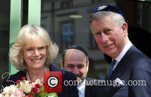 Prince Charles, Prince Of Wales, Wearing A Jewish Yarmulka, Camilla and Duchess Of Cornwall Open The Krakow Jewish Community Centre 11