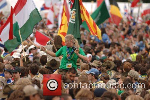Atmosphere The 21st World Scout Jamboree opening ceremony...