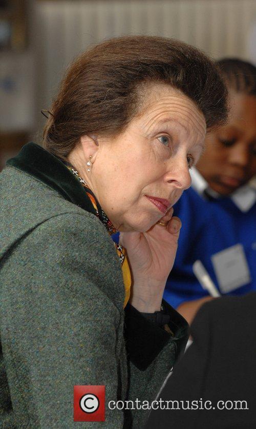 British Royal, Princess Anne Visits Hillcrest primary School...
