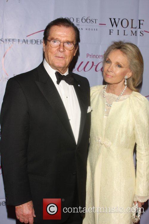 Roger Moore and Christina Tholstrup 25th Anniversary Princess...