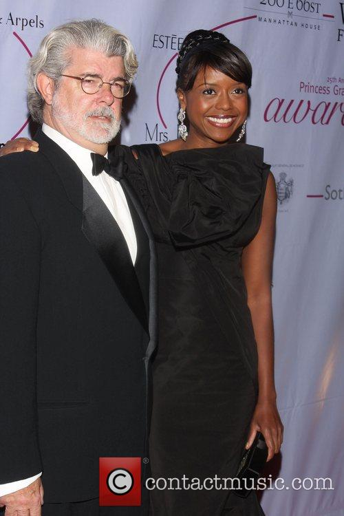 George Lucas and Melody Hopson 25th Anniversary Princess...