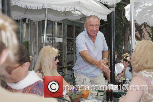 Frederic Prinz von Anhalt at the Ivy restaurant...