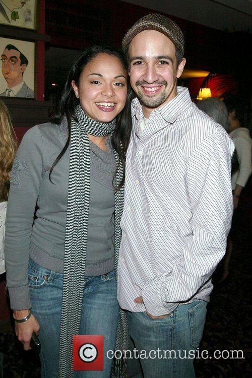 Karen Olivo & Lin-Manuel Miranda Unveiling of Priscilla...