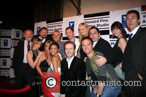 Howard Fine & cast of Football Wives,...