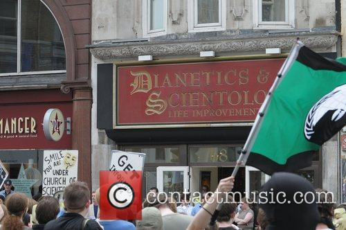 Protest outside of Dianetics and Scientology Life Improvment...