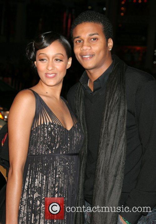Tia Mowry and fiance Premiere of 'P.S. I...