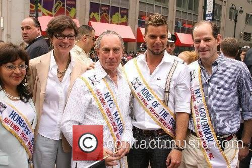 Diana Taylor, Michael Bloomberg, Ricky Martin and Eliot...