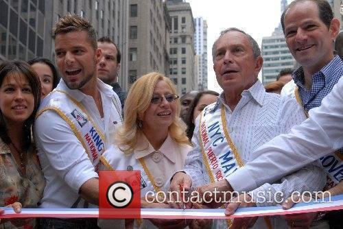 Ricky Martin, Mayor Bloomberg  50th Annual Puerto...