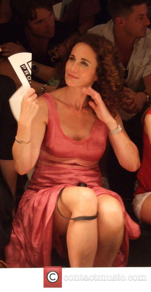 Andie MacDowell Puma by Rudolf Dassler fashion show...
