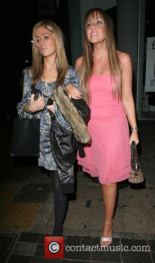 Michelle Scott-Lee and friend leaving Punk Nighclub
