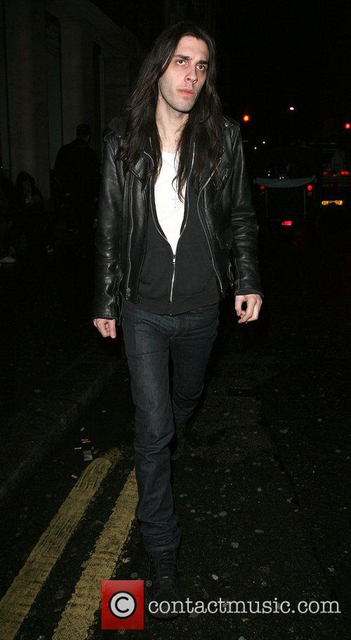 Blake Wood,Amy Winehouse's latest friend, leaving Punk nightclub...