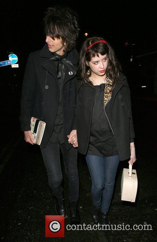 Peaches Geldof, her new boyfriend, Horrors frontman Faris Rotter and leaving Punk nightclub at 3.00am 14