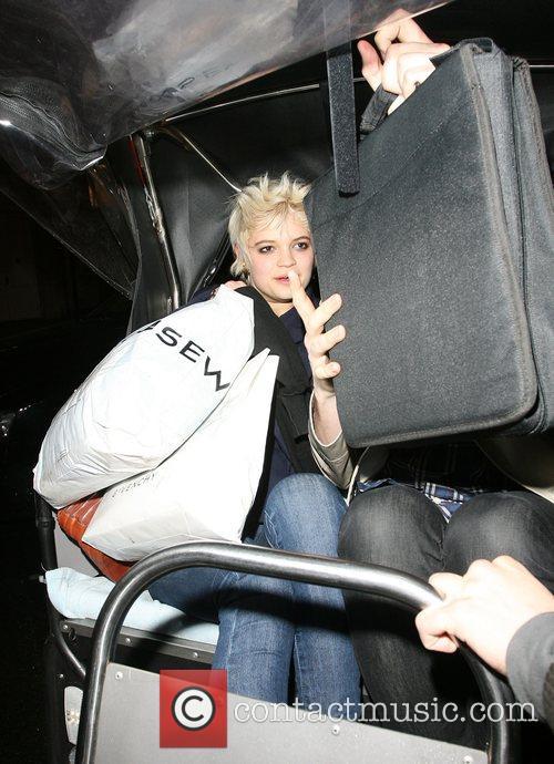 Pixie Geldof leaving Punk nightclub with friends at...
