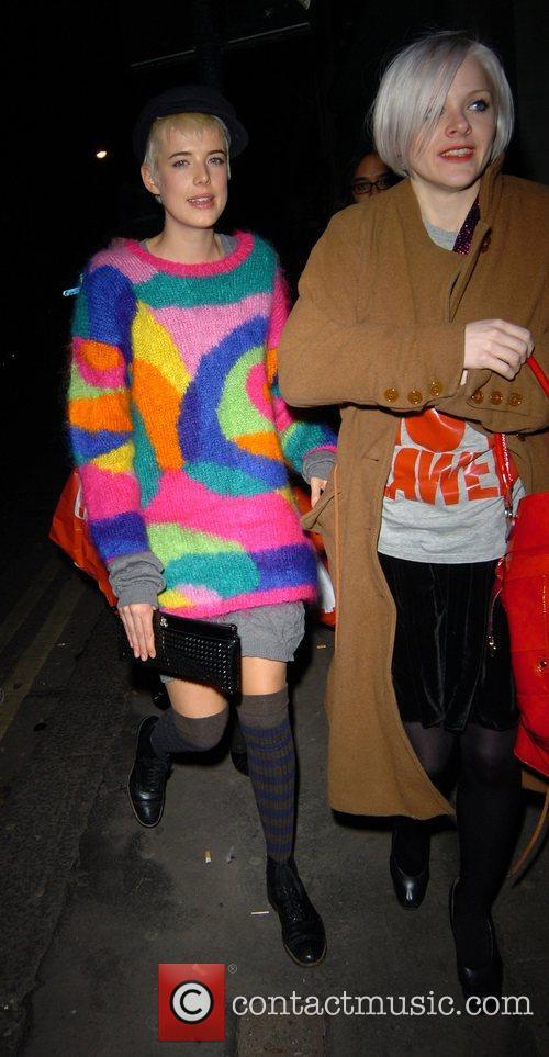 Agyness Deyn arriving at Punk club
