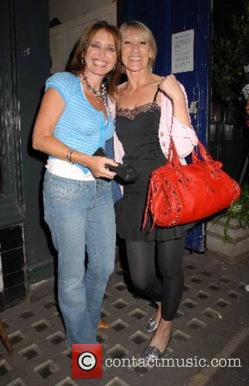 Ingrid Tarrant and guest arriving for the Purplemelon...