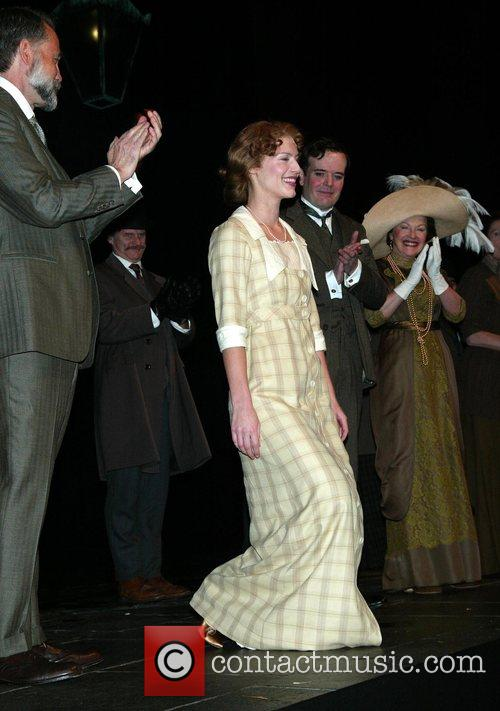 During the curtain call after the opening night...
