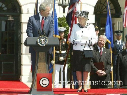 President George Bush and HRH Queen Elizabeth II...