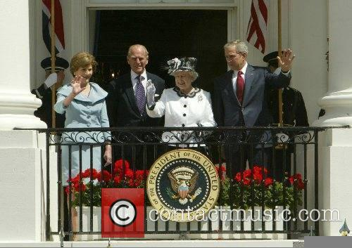 Laura Bush, Prince Philip, HRH Queen Elizabeth II...