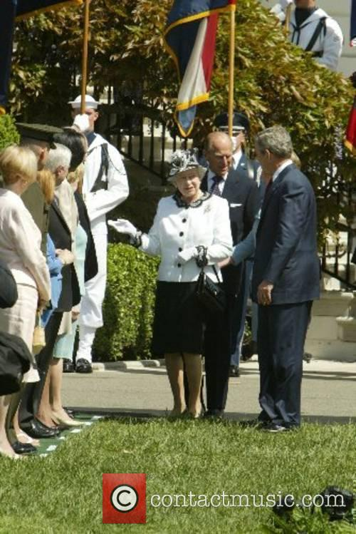 HRH Queen Elizabeth II, Prince Philip and President...